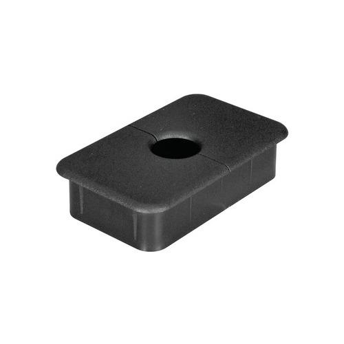 Hafele 631.37.303 Plastic Cable Grommet, Two-Piece, Rectangular, 89 x 54mm