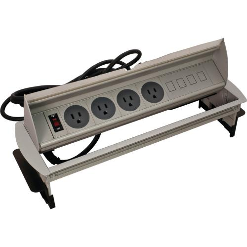 Hafele 822.73.211 Horizontal Powerdock, with Lighted Master Switch