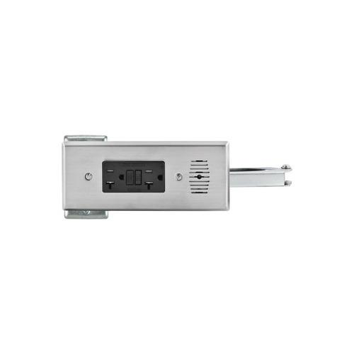 Hafele 822.53.072 Docking Drawer, Style 21 Flush Powering Outlet, with 2 x AC GFCI Outlets with Thermostat Reset Feature