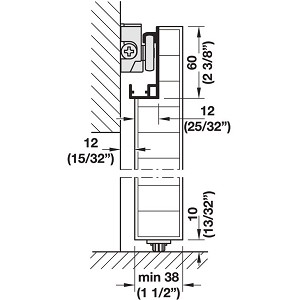 Hafele 940 59 003 Sliding Door Hardware Slido Design 80 M Set With